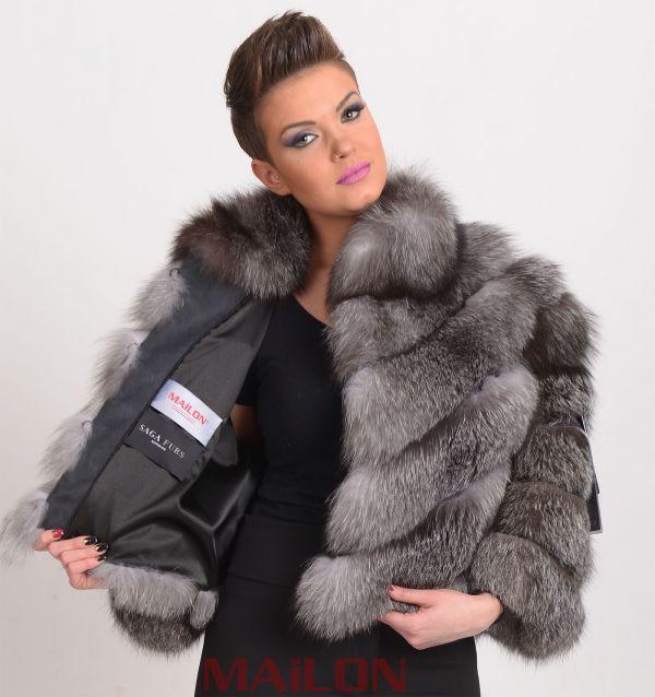 Blue Frost SAGA Fox Jacket bolero