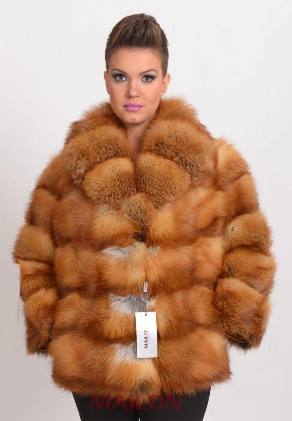 Full skin Canadian Red Fox Fur Jacket