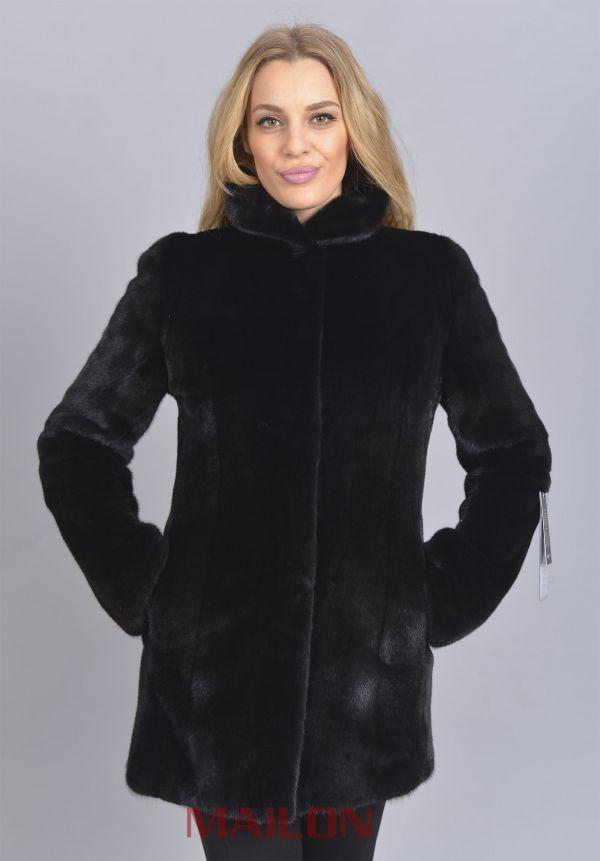 SAGA ROYAL Black Mink fur jacket
