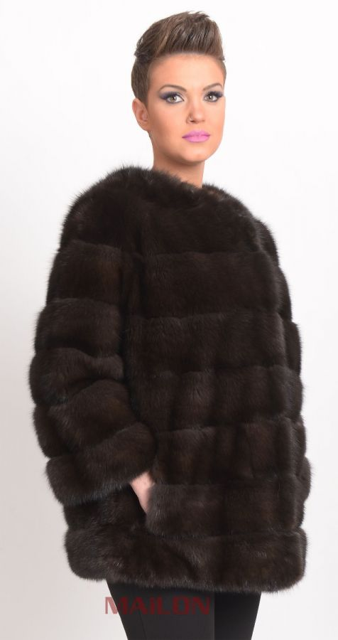 Sable Fur Jacket with chanel collar
