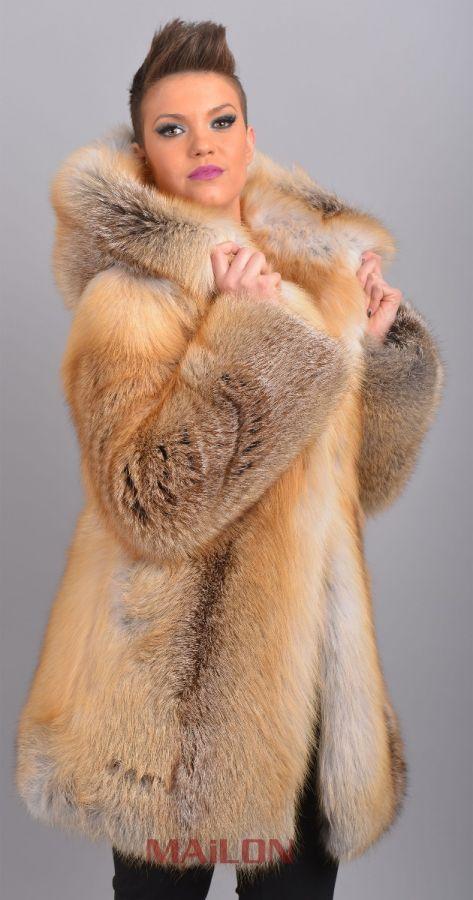 Golden Island SAGA Fox coat parka hooded