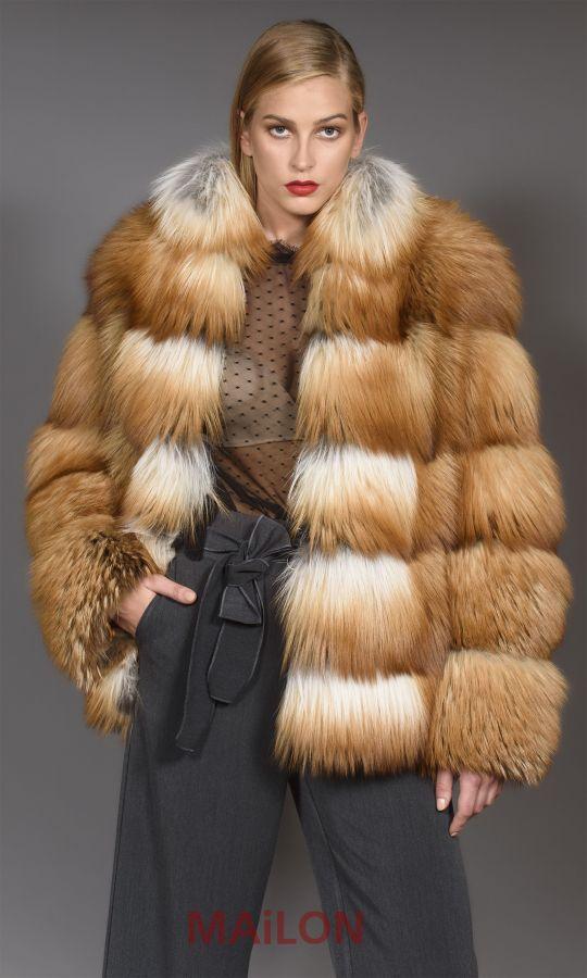 SAGA Gold Fox Fur Jacket - Size Medium