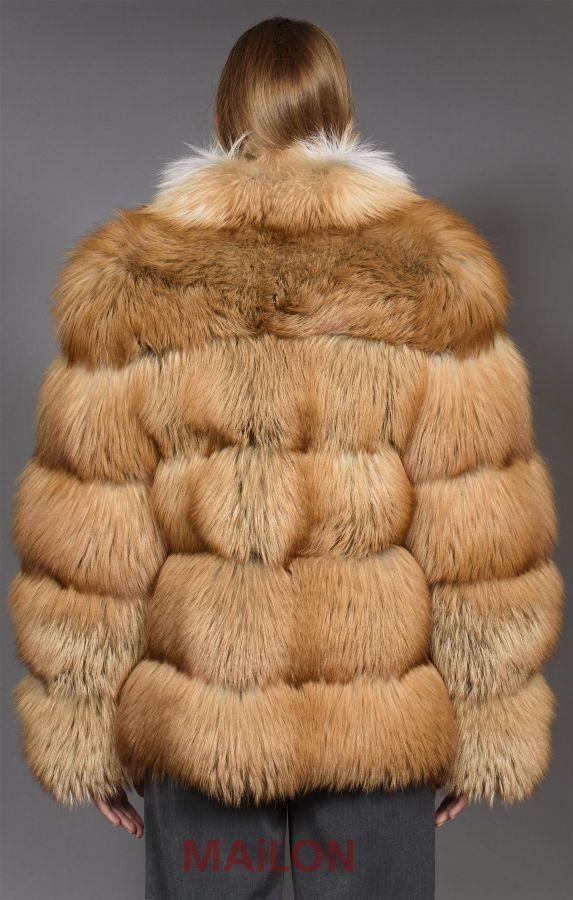 SAGA Gold Fox Fur Jacket