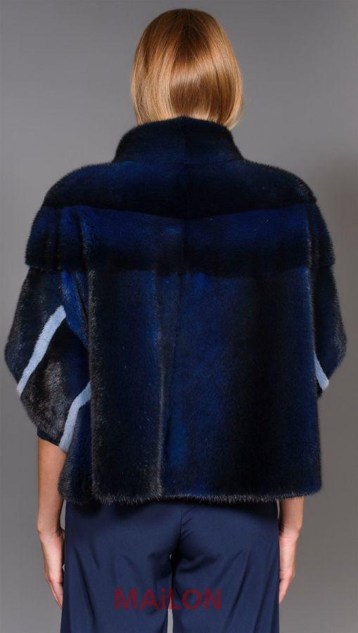 Brand New Exclusive Blue Mink Fur Jacket
