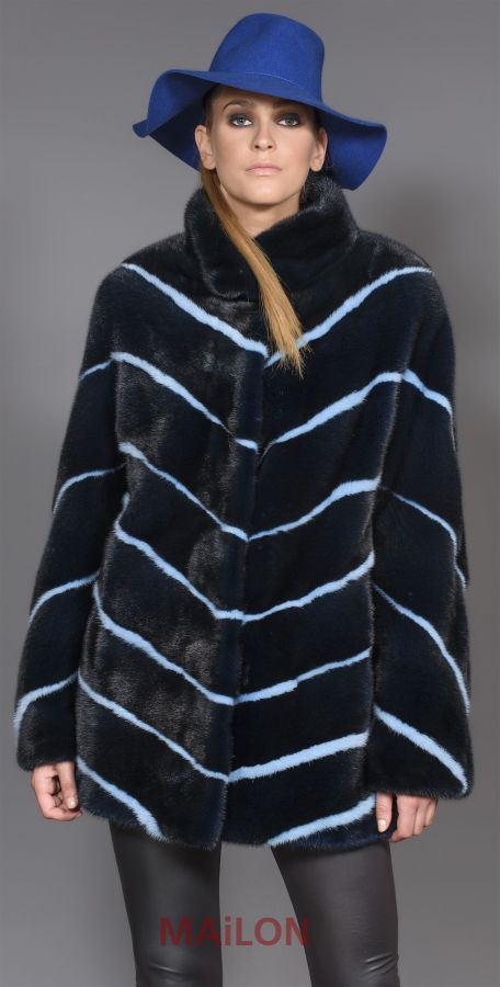 Exclusive SAGA ROYAL Mink Fur Jacket - Size Medium