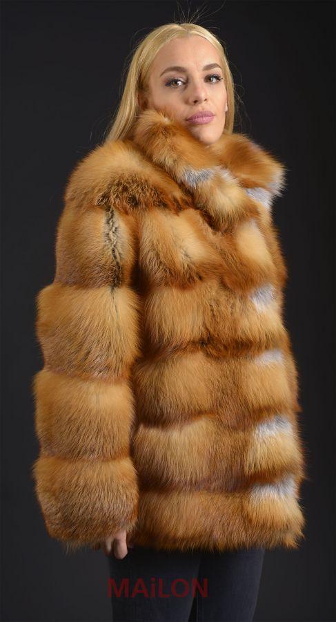 Canadian Red Fox Fur Jacket, Pelts across