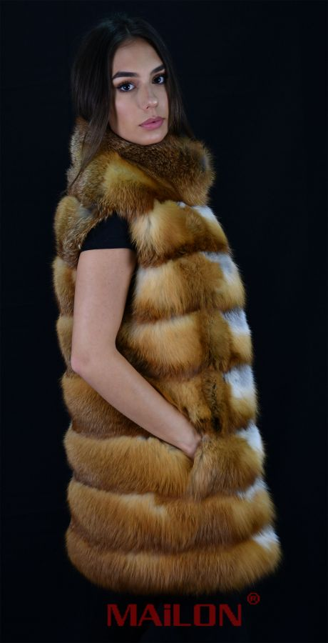 Canadian Red Fox Fur Vest