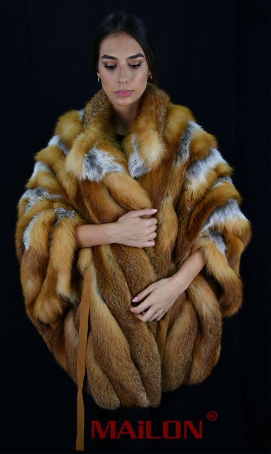 Canadian Red Fox Fur Cape - One Size fits most