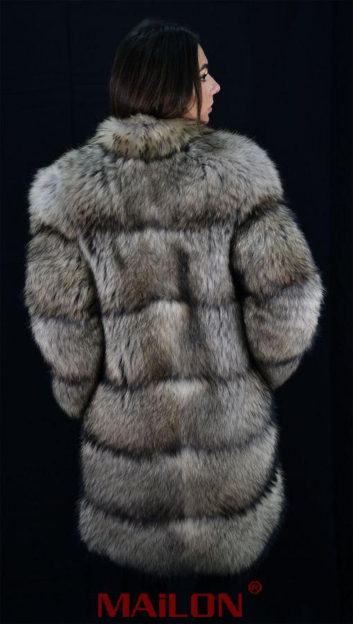 SAGA Finnraccoon feathered fur coat - Size Small