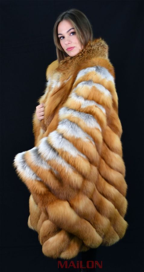 Luxurious Canadian Red Fox Fur Cape - Plus Size - XL 2XL 3XL