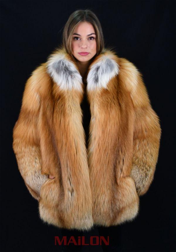 SAGA FURS Gold Fox Fur Jacket