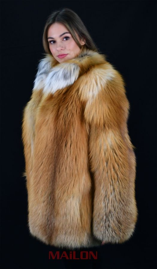 SAGA FURS Gold Fox Fur Jacket - Size Medium
