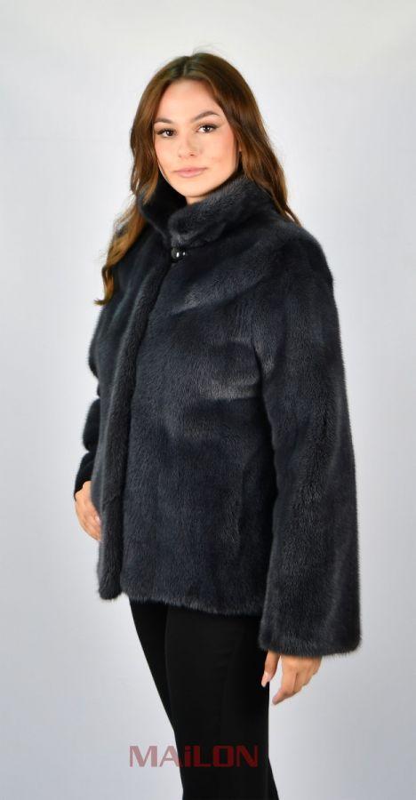 Grey dyed fur jacket - Size Small/Medium