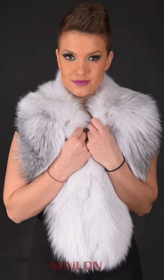 Arctic Marble Fox Fur collar