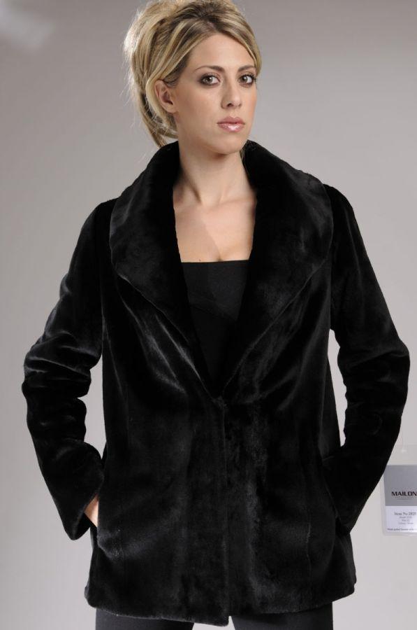 Sheared Black Mink fur jacket