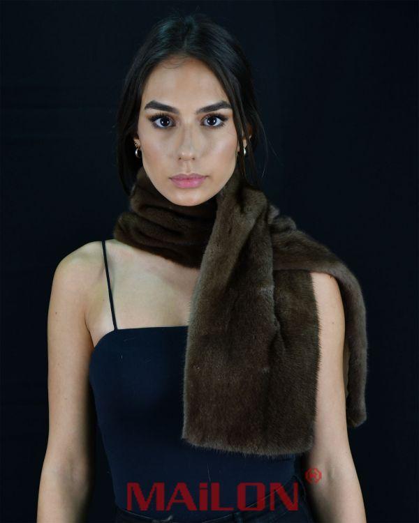 SAGA ROYAL Demi Buff Mink Fur Scarf