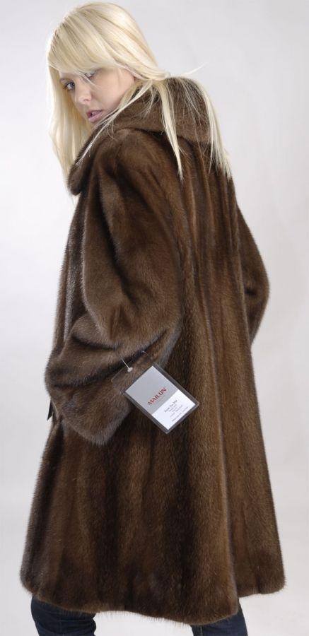 Let out Demi Buff Mink Fur jacket coat