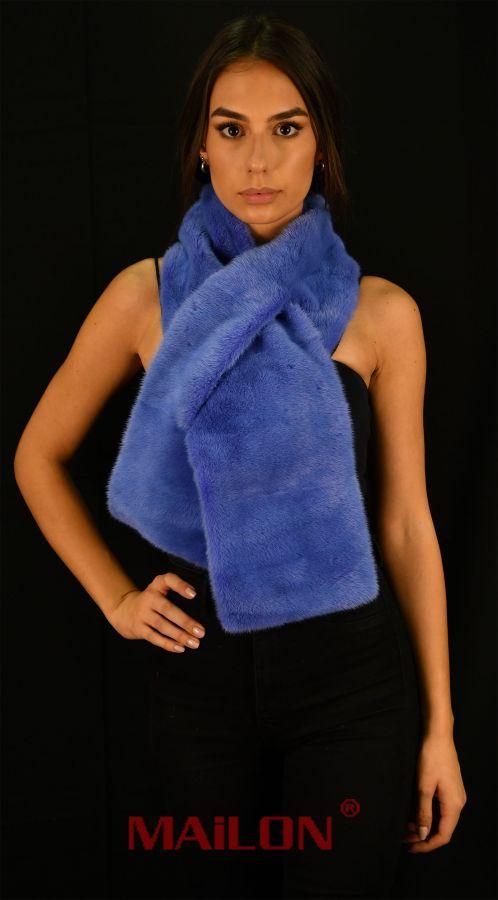 Dyed SAGA ROYAL Mink Fur Scarf