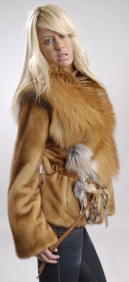Golden Mink Jacket with Gold Fox collar