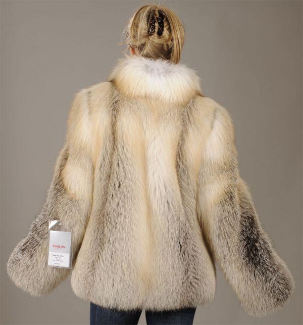 Feathered Golden Island Fox Jacket