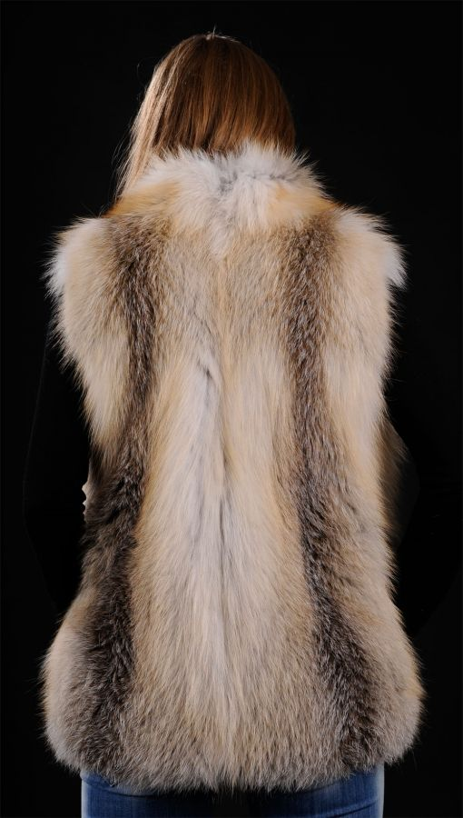 Golden Island SAGA Fox fur vest