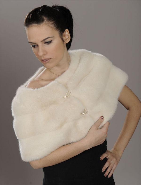 Golden Pearl Mink Fur stole