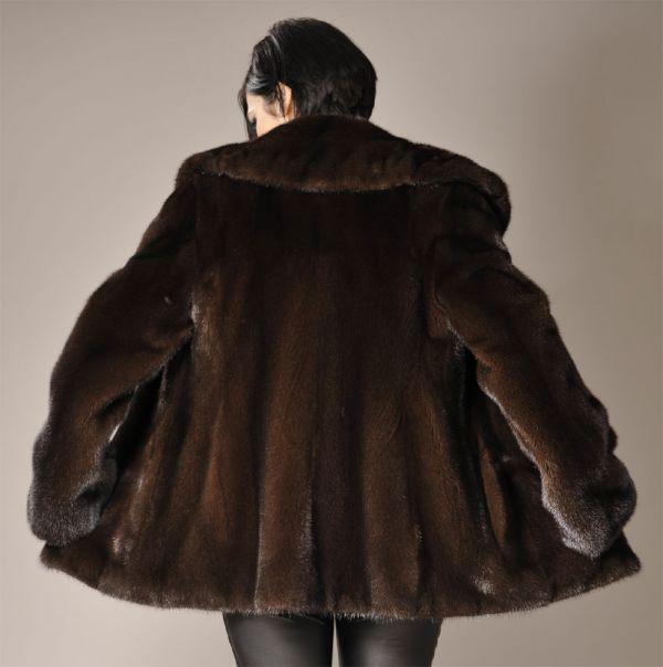 SAGA ROYAL Mahogany mink fur jacket