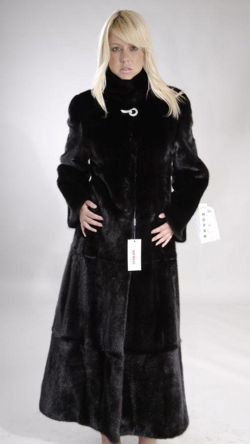 skin on skin Black Mink Fur Coat