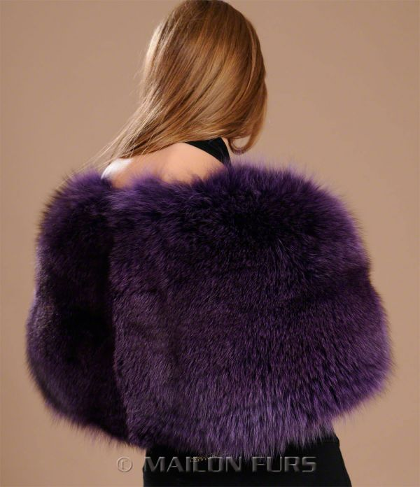 Mauve - purple Fox stole