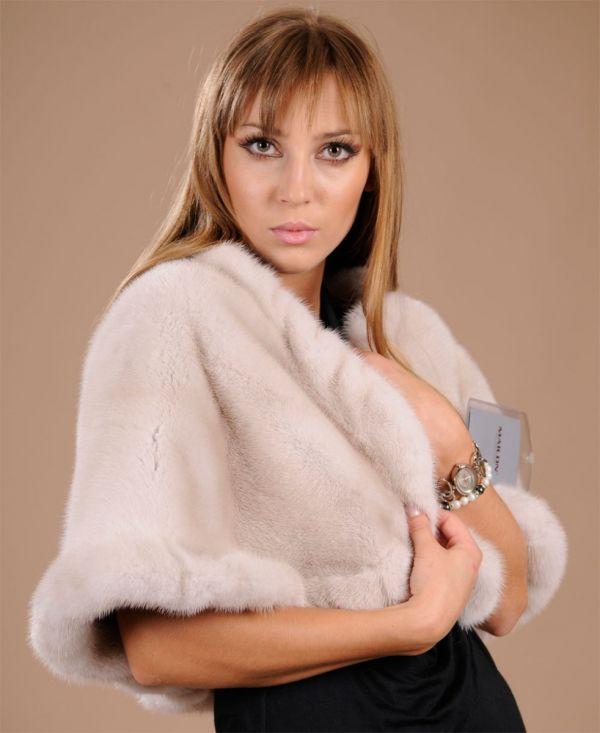 Pearl Mink Fur stole SAGA ROYAL