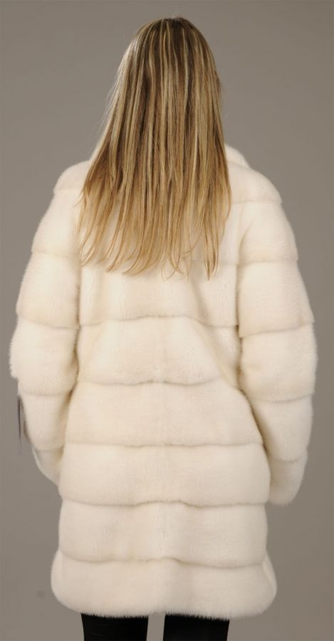 Golden Pearl Mink Coat - pelts across