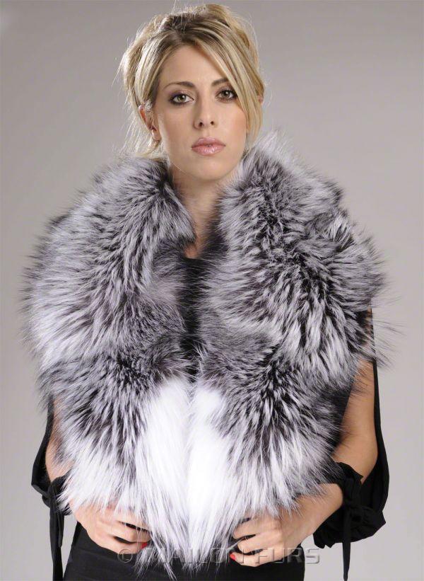 Natural Silver/Platinum Fox Fur Collar