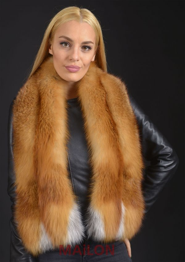 Natural Red Fox Fur Scarf / Collar