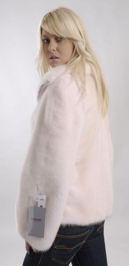 Pearl Rose (Pink) Mink Jacket