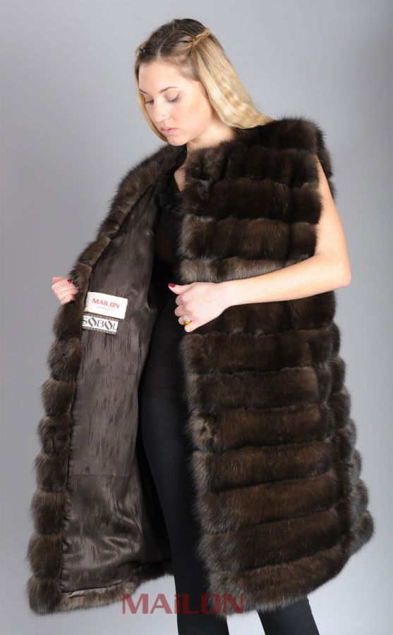 Genuine Sable Fur Vest
