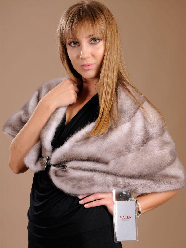 SAGA Silver Blue Mink Fur Stole