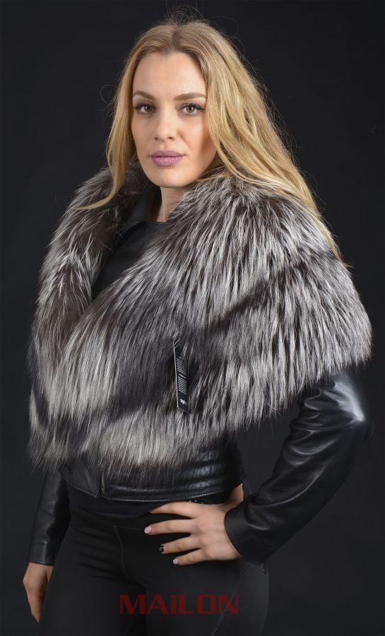 SAGA Silver Fox stole - One Size