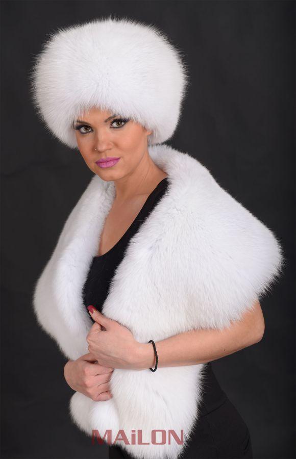 SAGA White Fox Fur collar - Bridal - Wedding