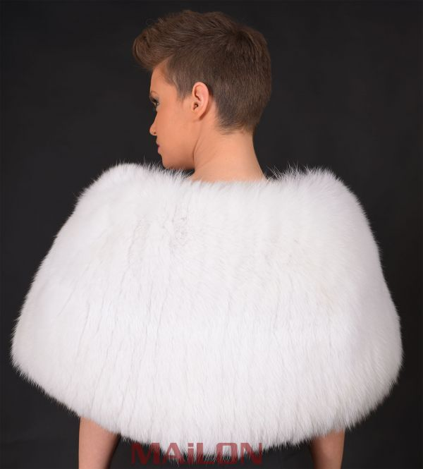 Feathered SAGA White Fox stole- One Size Fits All