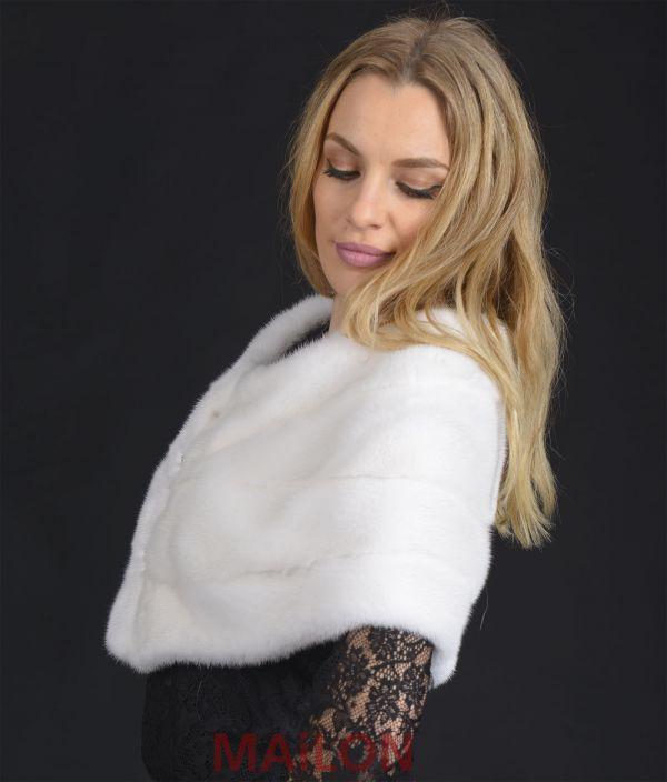 SAGA ROYAL White Mink Fur stole