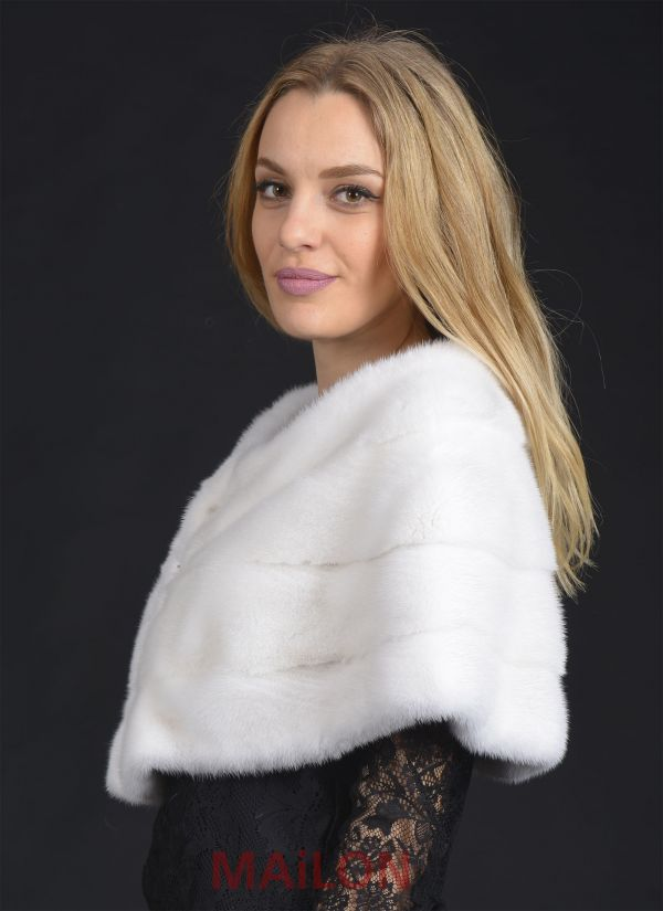 SAGA ROYAL White Mink Fur stole